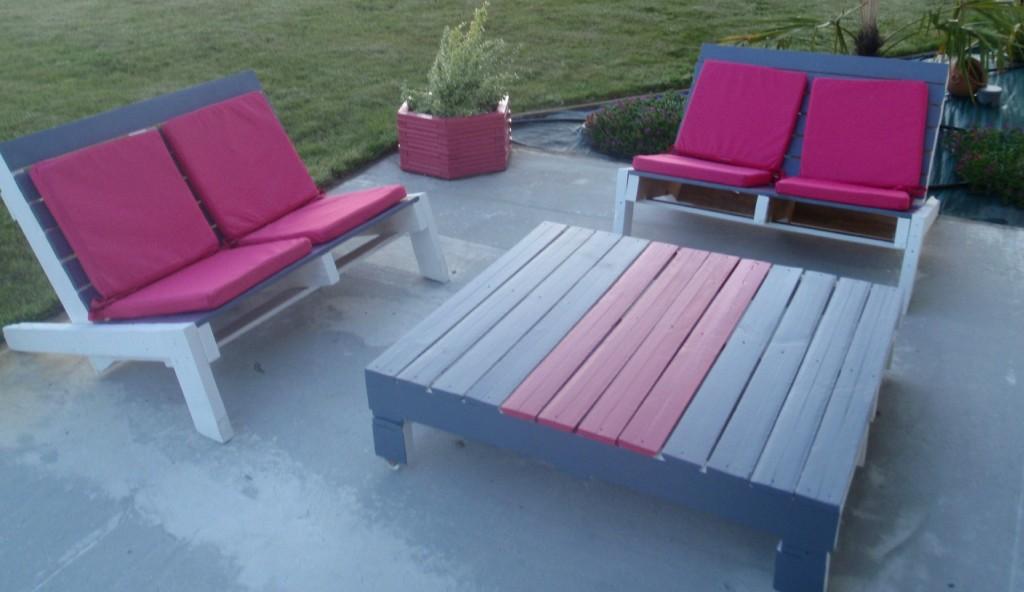 idée salon de jardin avec des palettes