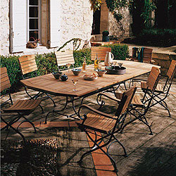 Stunning Table De Jardin Bois Ovale Contemporary - Amazing House ...