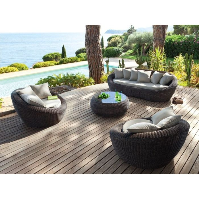 salon de jardin en rotin. Black Bedroom Furniture Sets. Home Design Ideas