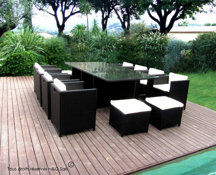 salon de jardin encastrable. Black Bedroom Furniture Sets. Home Design Ideas