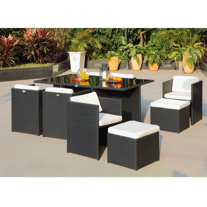Awesome la redoute table de jardin en resine tressee for Table jardin la redoute