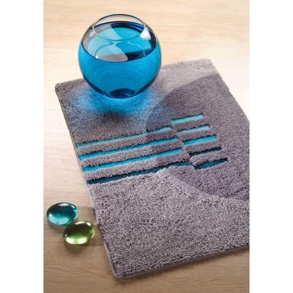 Tapis salle de bain bleu turquoise for Ensemble tapis salle de bain