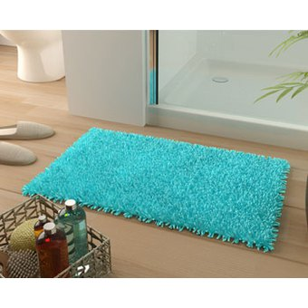 tapis salle de bain bleu turquoise. Black Bedroom Furniture Sets. Home Design Ideas