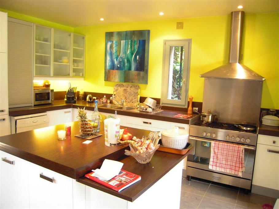 D co cuisine jaune - Photo deco cuisine ...