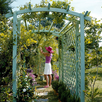 D co jardin pergola for Exemple deco jardin