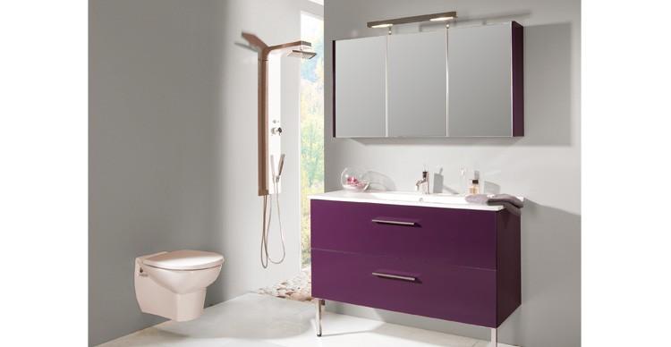 Couleur aubergine salle de bain id e d co salle de bain - Salle de bain couleur aubergine ...