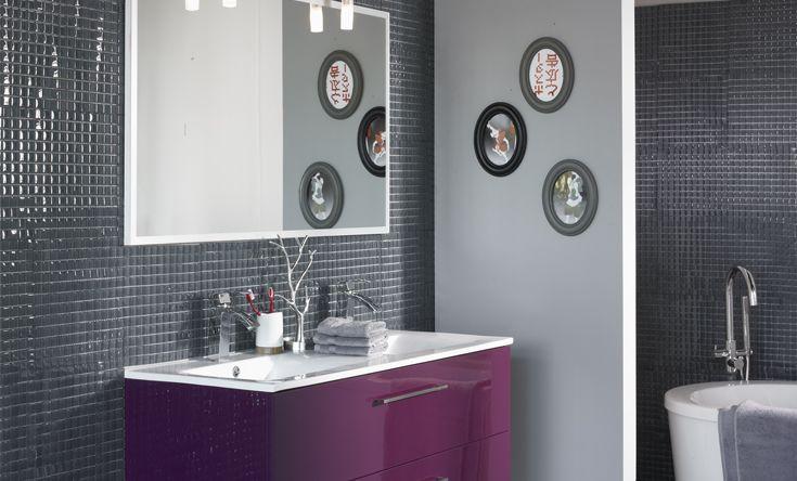Salle De Bain Blanc Et Aubergine : Déco salle de bain aubergine