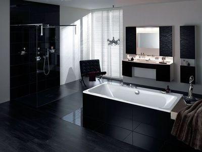idée déco salle de bain noire et blanc - Photo Salle De Bain Noir Et Blanc
