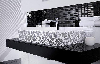 organisation déco salle de bain noire et blanc - Image Salle De Bain Noir Et Blanc