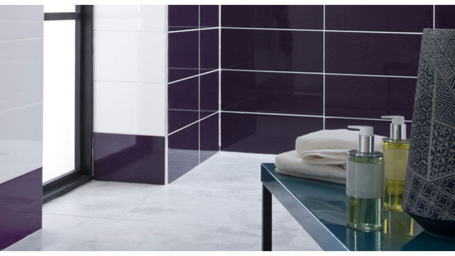 d co salle de bain prune. Black Bedroom Furniture Sets. Home Design Ideas