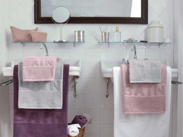 Photo déco salle de bain rose