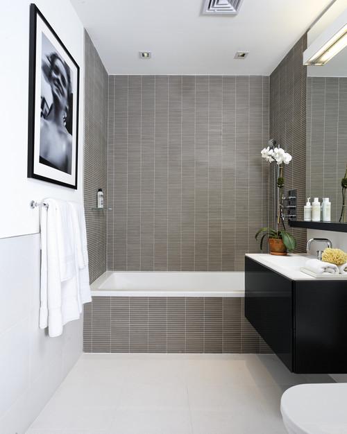 Salle De Bain Taupe Et Blanc - Maison Design - Apsip.com