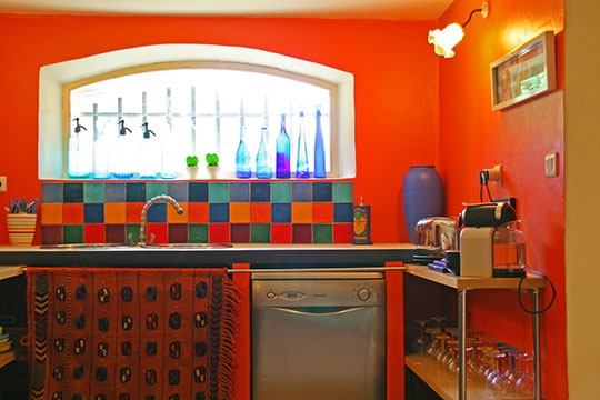 Jolie décoration cuisine colorée - Photo Déco