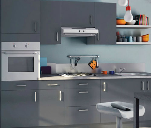 d coration cuisine grise. Black Bedroom Furniture Sets. Home Design Ideas