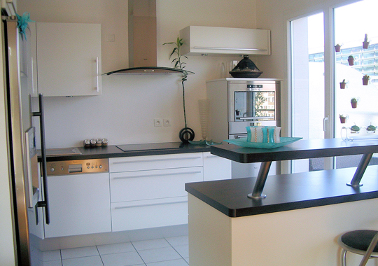 d coration cuisine ouverte. Black Bedroom Furniture Sets. Home Design Ideas