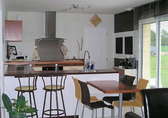 D coration cuisine ouverte for Modele cuisine americaine avec salon