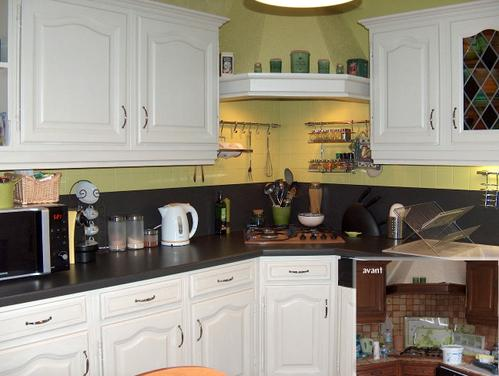 D coration cuisine peinture for Peinture speciale credence cuisine