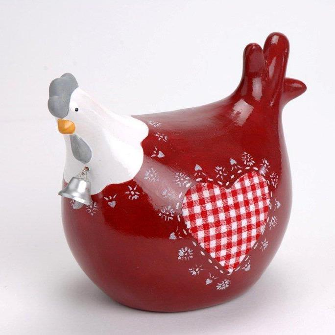 D coration cuisine poule for Objet de decoration rouge