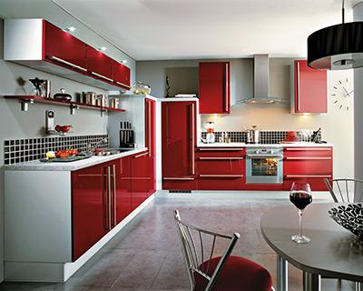 D coration cuisine rouge bordeaux - Deco rouge cuisine ...