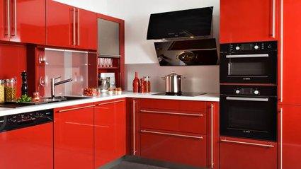 d coration cuisine rouge bordeaux. Black Bedroom Furniture Sets. Home Design Ideas