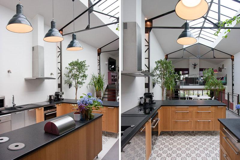 d coration cuisine style industriel. Black Bedroom Furniture Sets. Home Design Ideas