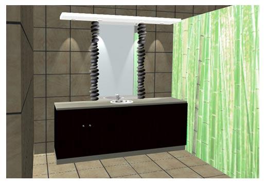d coration des murs d 39 une salle de bain. Black Bedroom Furniture Sets. Home Design Ideas