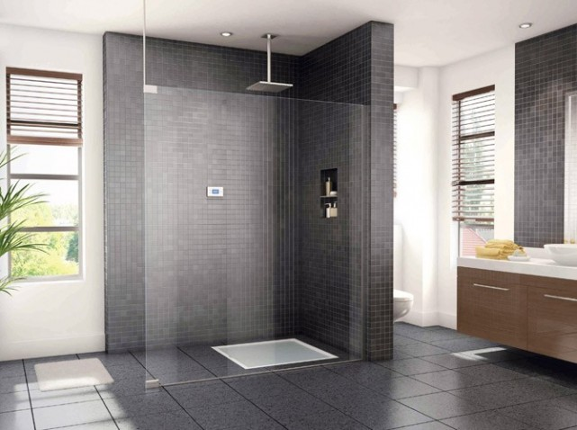 d coration salle de bain douche italienne. Black Bedroom Furniture Sets. Home Design Ideas