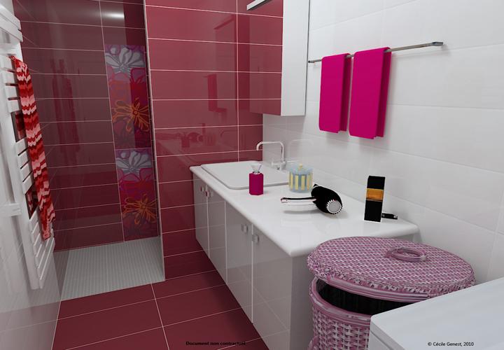 D coration salle de bain fille - Amenagement salle de bain 3d ...