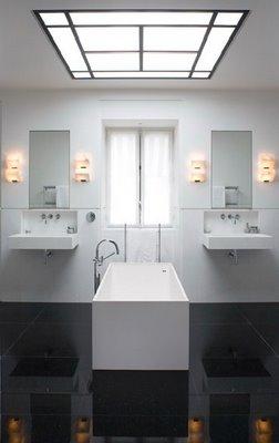 D coration salle de bain noir - Deco salle de bain grise et blanche ...