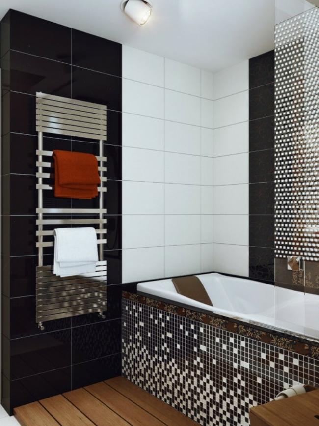 D coration salle de bain noir for Organisation salle de bain