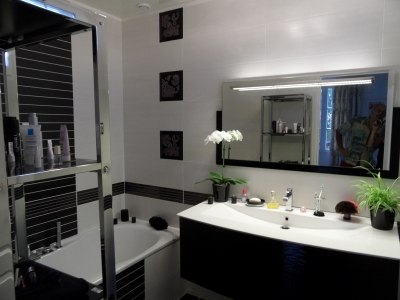 Awesome Decoration Salle De Bain Noir Et Blanc Contemporary ...