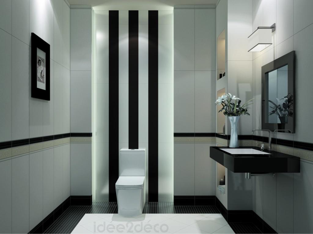 d233coration salle de bain noir et blanc