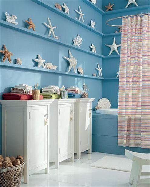 d coration salle de bain style marin. Black Bedroom Furniture Sets. Home Design Ideas