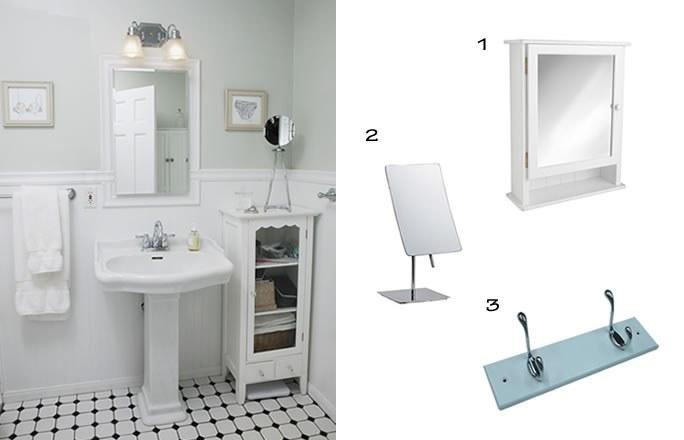 Photo décoration salle de bain vintage