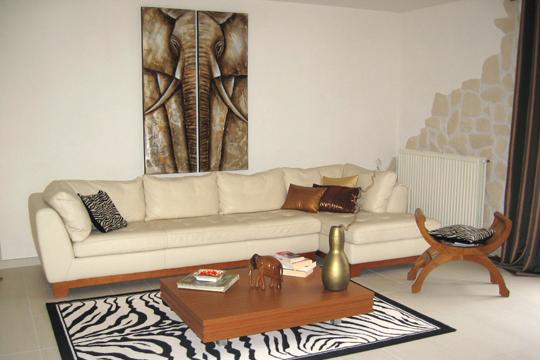 Modele Des Fauteuil De Salon Africain : Decoration interieur salon africain