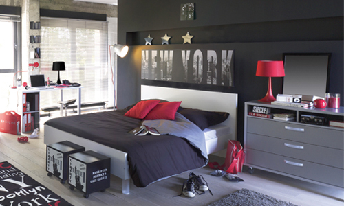 d coration salon ambiance new york. Black Bedroom Furniture Sets. Home Design Ideas