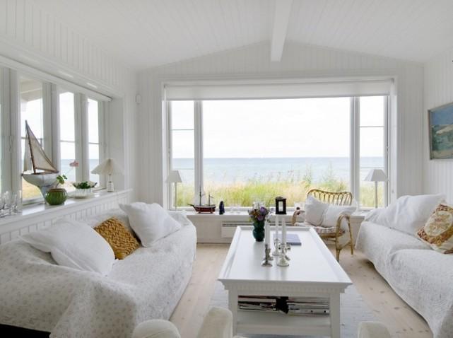 Deco Chambre Tapisserie : aménagement décoration salon blanc