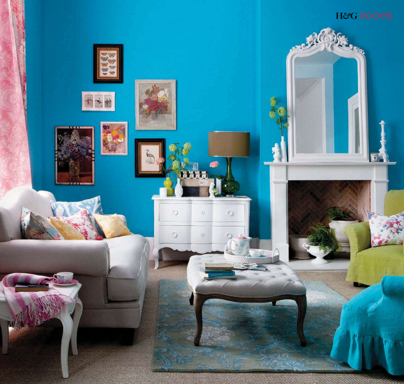 d coration salon bleu turquoise. Black Bedroom Furniture Sets. Home Design Ideas
