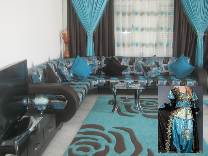 organisation dcoration salon bleu turquoise - Salon Bleu Turquoise Et Marron