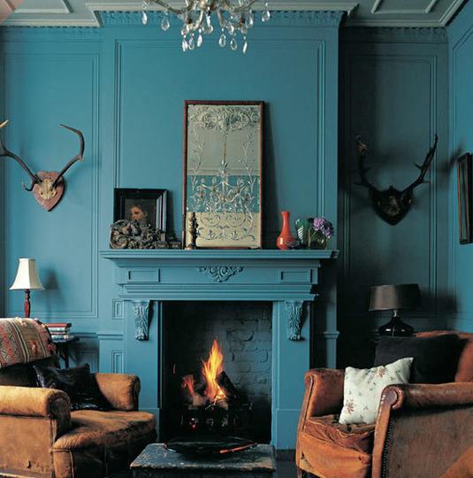 d233coration salon bleu turquoise