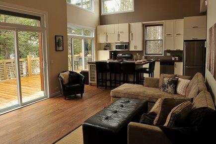 D coration salon cuisine aire ouverte for Decoration salon et cuisine ouverte
