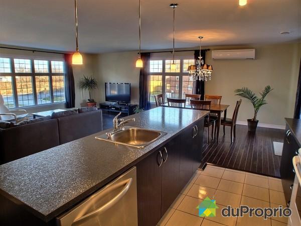 décoration cuisine et salon aire ouverte