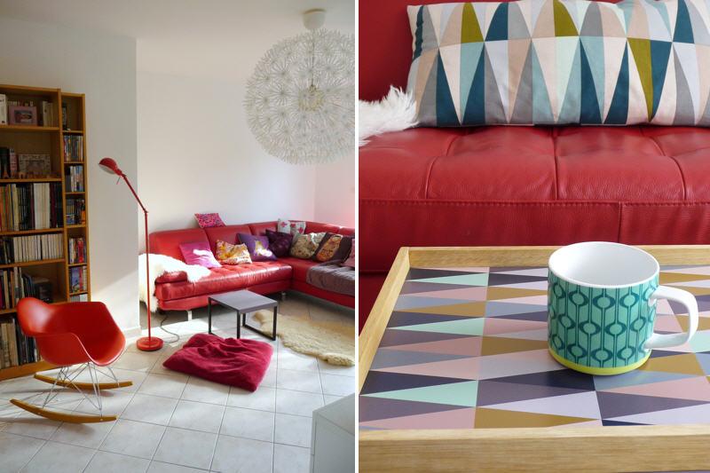 D coration salon divan rouge - Organisation d un salon ...