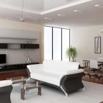 décoration salon haut plafond