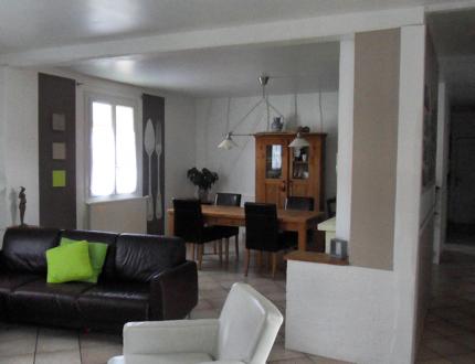 d coration salon lin et taupe. Black Bedroom Furniture Sets. Home Design Ideas