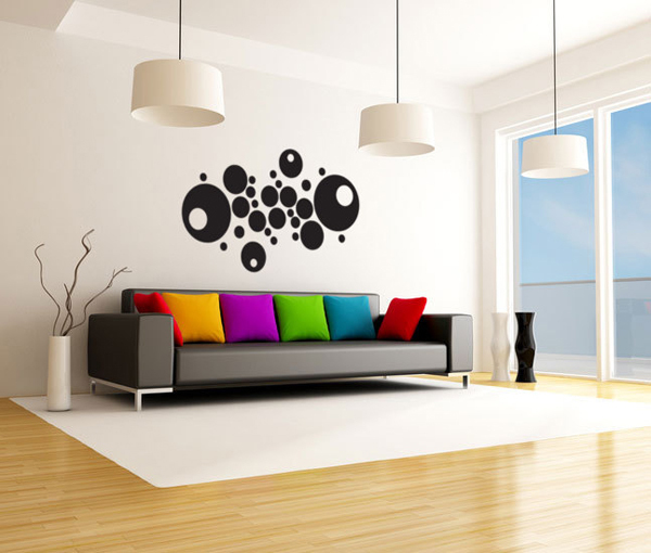 deco murale salon. Black Bedroom Furniture Sets. Home Design Ideas