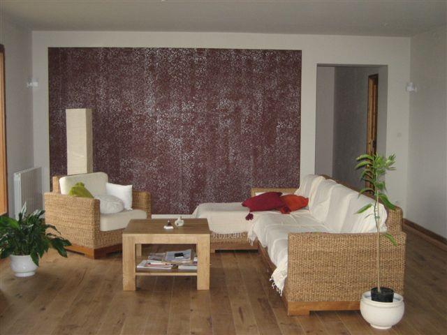 Decoration mur salon for Decoration murale design salon