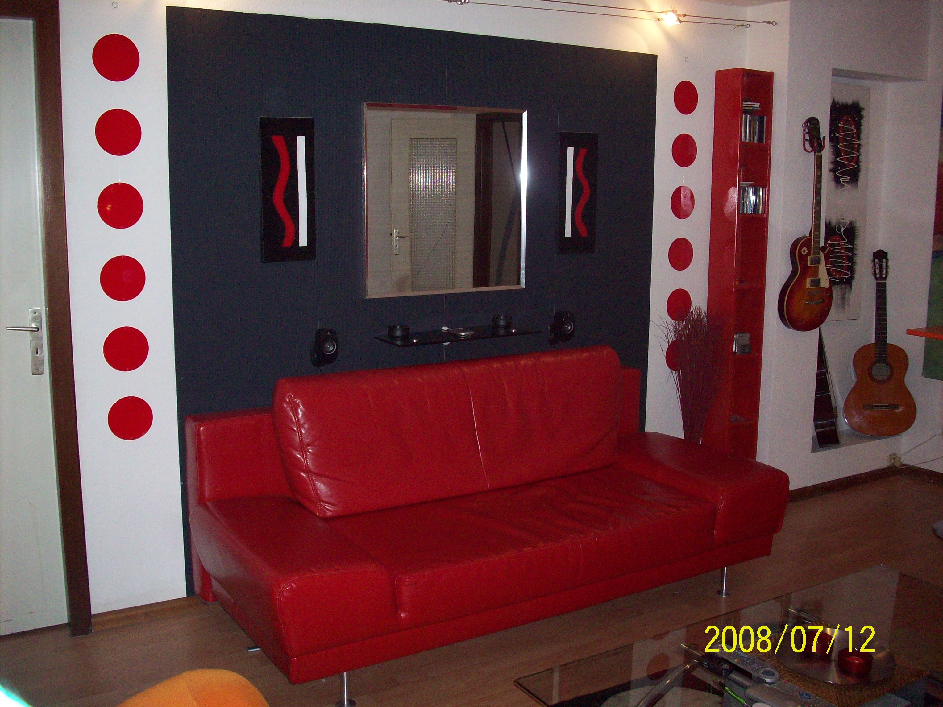 deco salon gris noir et rouge. Black Bedroom Furniture Sets. Home Design Ideas