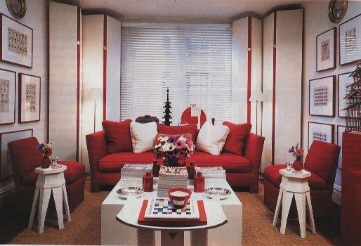 D coration salon rouge - Deco salon blanc gris rouge ...