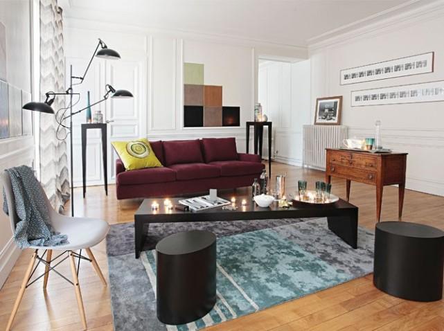 D coration salon style contemporain for Decoration salon contemporain chic